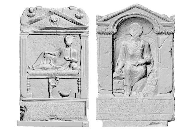 The tombstones of Victor and Regina