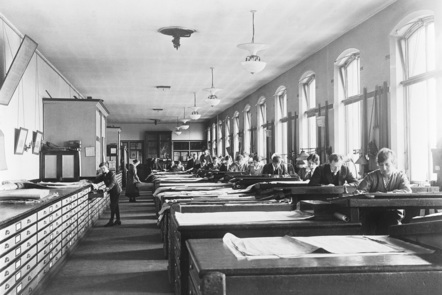 Drawing Office at Horwich Works 1917