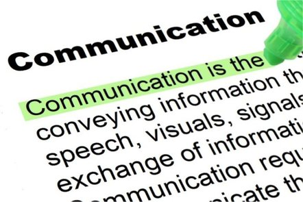 communication word highlighted