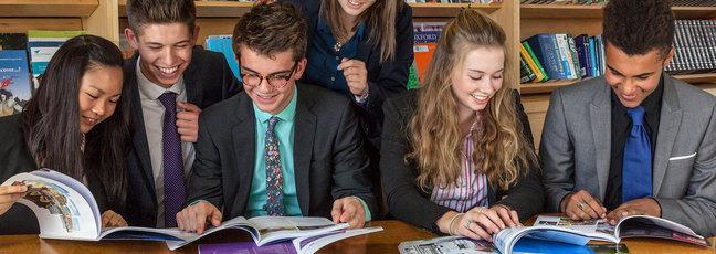 Students preparing for university