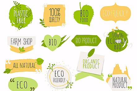 Organic and ecological labels.