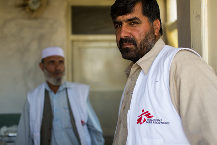 Afghan staff of Doctors Without Borders.