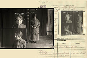 Mugshot of a female criminal in the 1930s