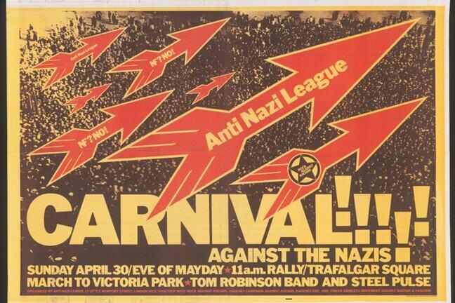 Anti-Nazi League Carnival poster dated 30 April 1978