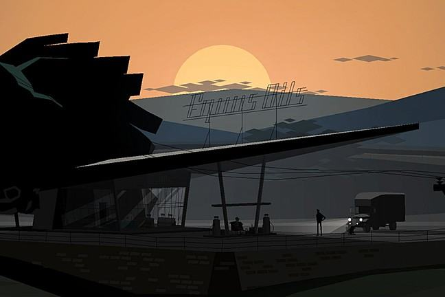 A scene from Kentucky Route Zero by Cardboard Computer (Jake Elliott and Tamas Kemenczy).