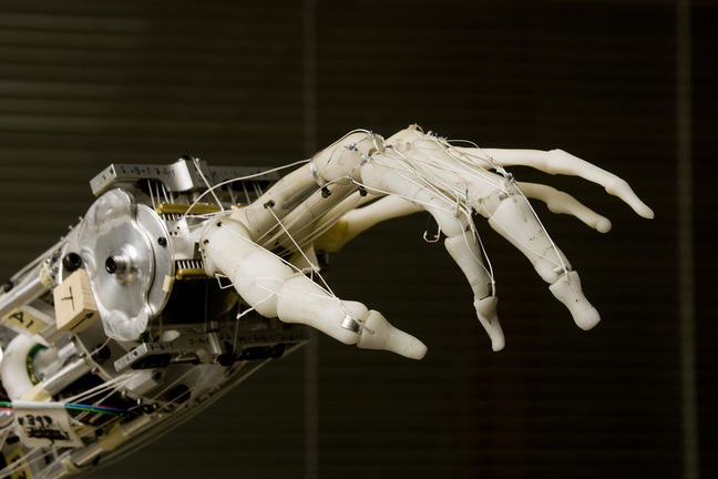 A robotic prosthetic hand is a close replica of an actual human hand