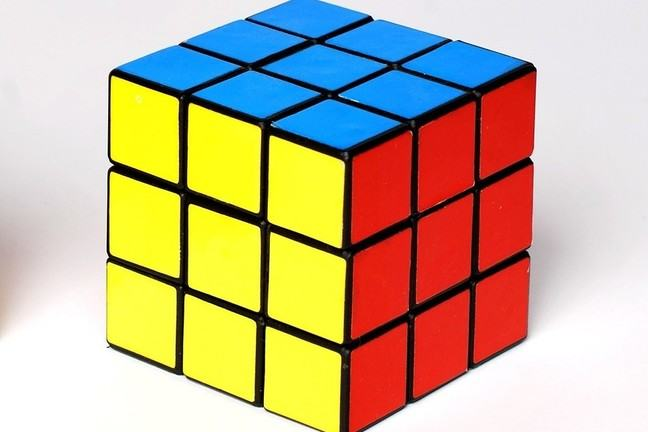 A rubik's cube solved