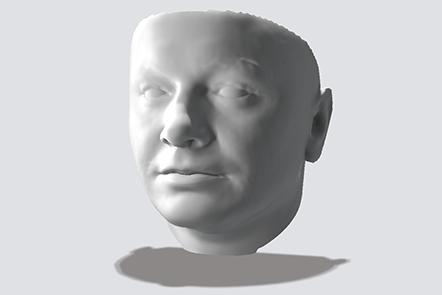 3d model of a face