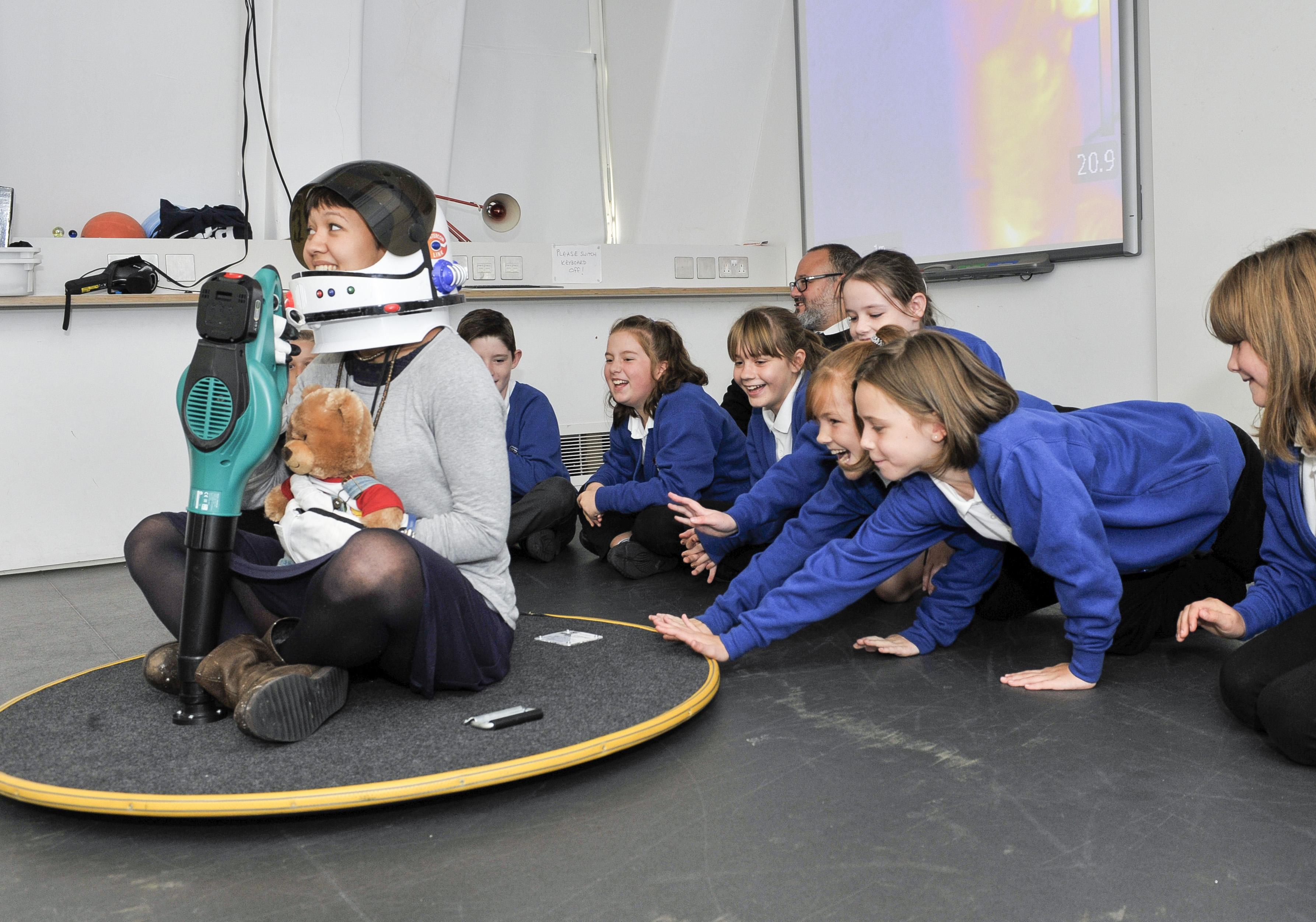 Children in a workshop