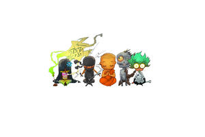 the hippie, the ninja, the monk, the zombie and the scientist