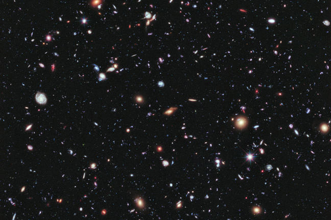 Stars viewed in space from the Hubble telescope