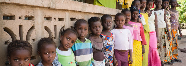 Image of children ranging from very young to teenaged