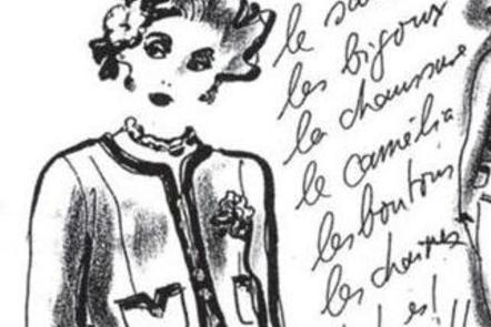 Sketche drawn by K. Lagerfeld for the 1993 Chanel catalogue