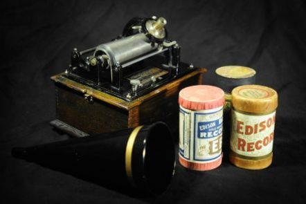 Early sound recordings in the form of wax cylinders at the British Library. Photo by Clare Kendall