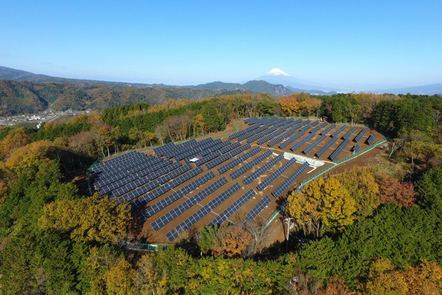 A large PV plant in a landscape