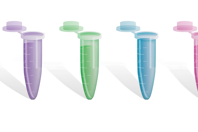 Multiple test tubes with different coloured liquids