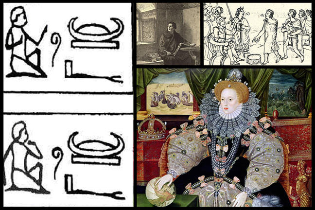 Collage of three historical translators
