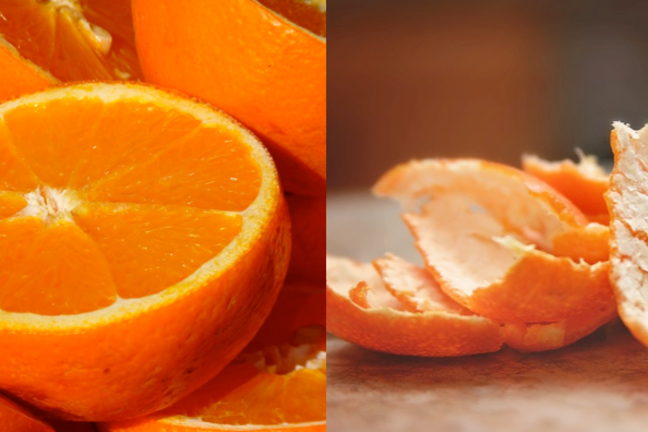Oranges and orange peel
