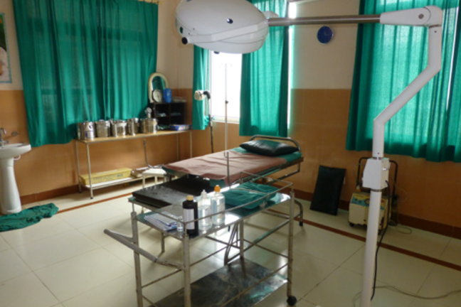 A newly refurbished labour room in a rural health facility Nepal, clean, well equipped and able to provide privacy for women