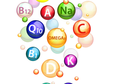 An abstract image representing vitamins and other micronutrients