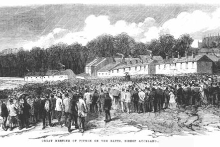 Drawing of colliers on strike