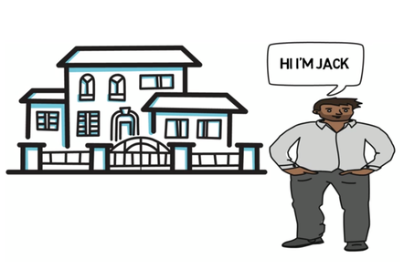 Illustration of a house and Jack