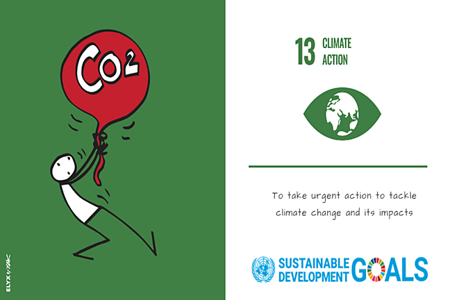 The icon for SDG 13