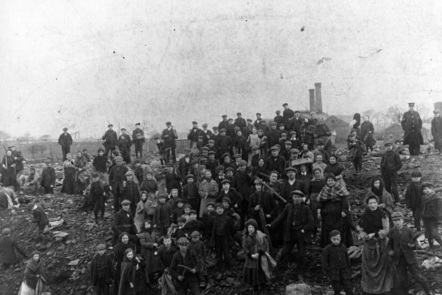 Photograph of a mining community