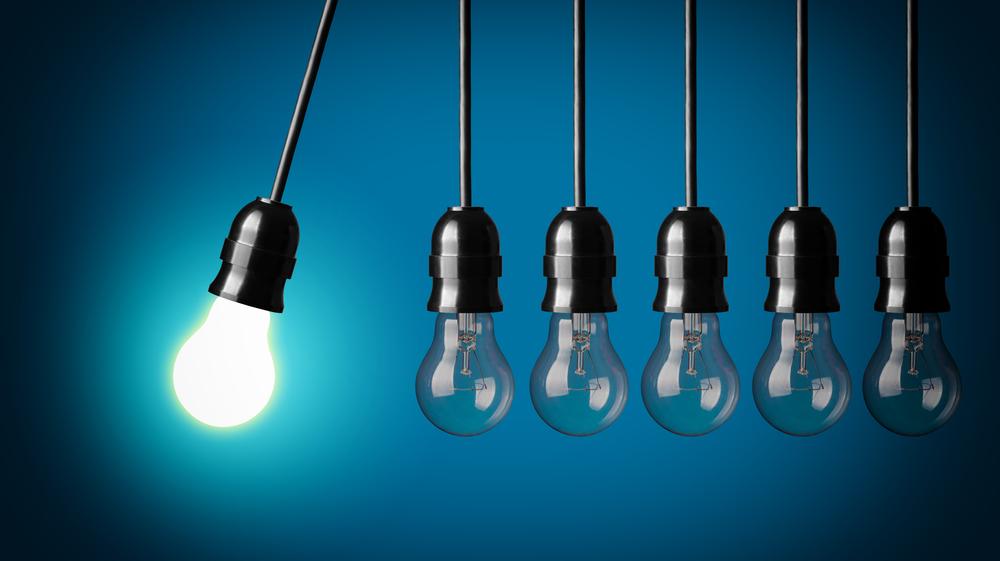 Blue Lightbulbs