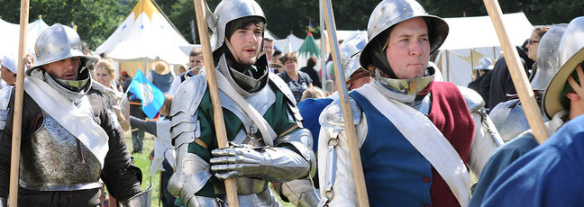 A re-enactment of the Battle of Bosworth, at which Richard III died