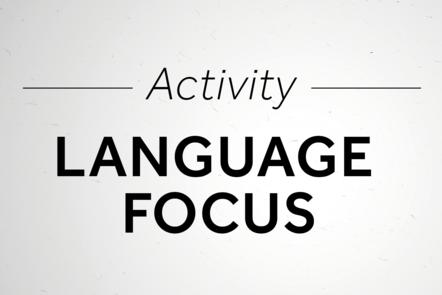 Language focus activity