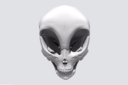 Skull of an alien