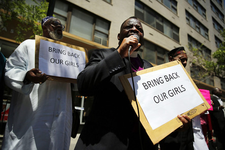 Rally Held For Missing Schoolgirls Outside Permanent Mission of Nigeria To The U.N.