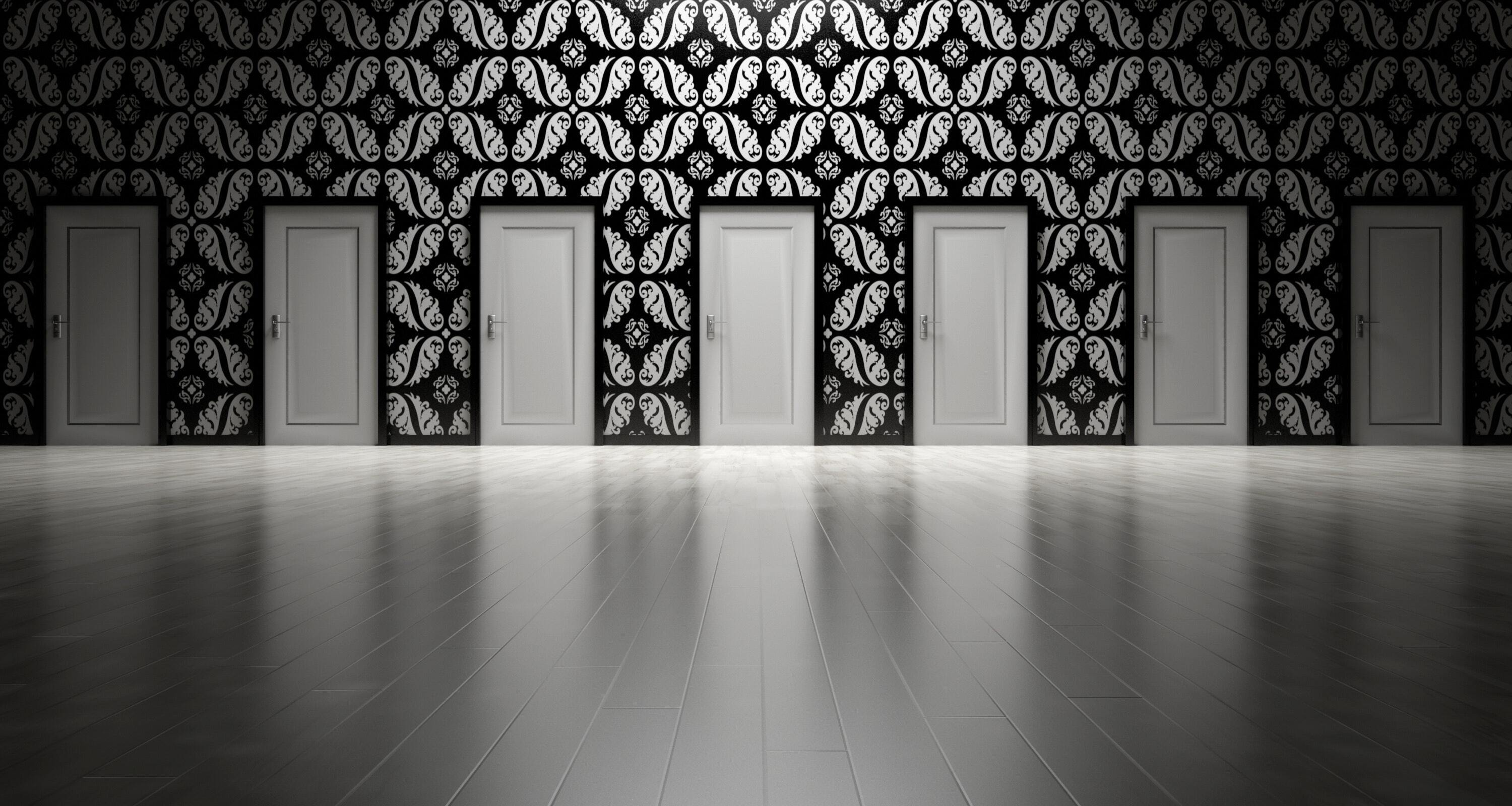 a series of doors one could choose to pass through