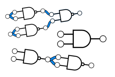 An illustration of lots of logic gates