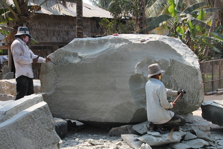 An occupational cancer is a cancer induced by a particular exposure in the workplace. Stone workers are at risk of developing an occupational cancer due to exposure to chrystalline silica.