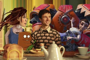 Animation: a variety of characters created through stop motion, 2D, CGI and pixilation