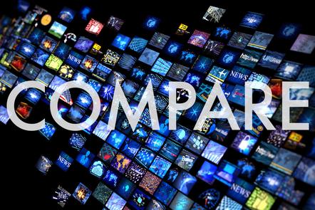 Compare graphic title card