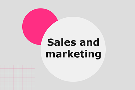 Topic: sales and marketing