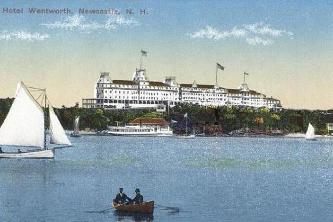 A postcard from the hotel in New Hampshire were treaty talks held to end Russo-Japanse War