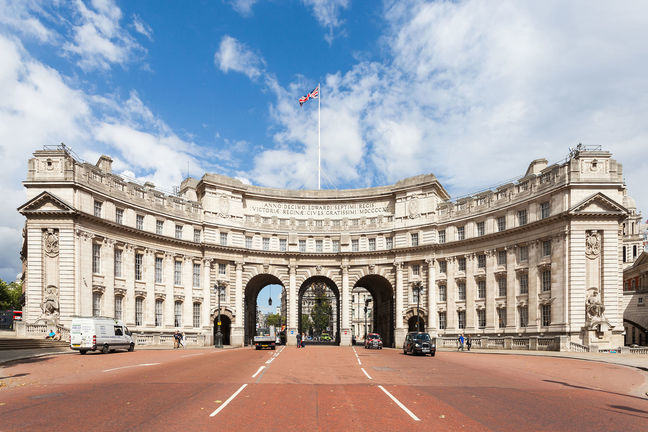 Roman numerals on Admiralty Arch, London