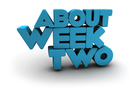 Image of text saying 'About week two'