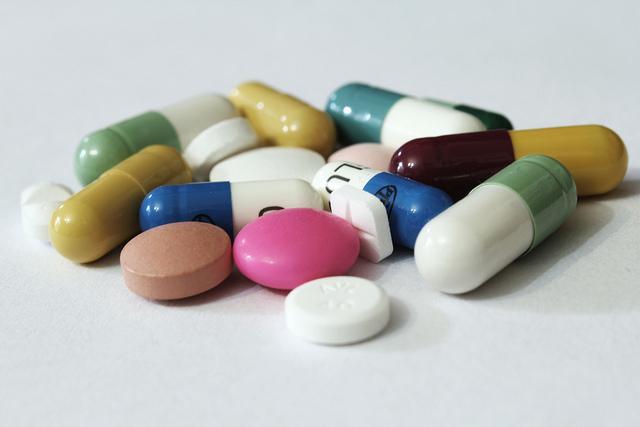 Multi coloured pills