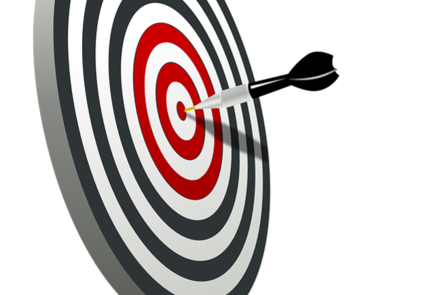 Picture of an arrow and a target