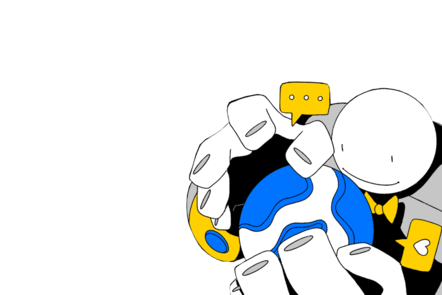 Cartoon figure holding globe