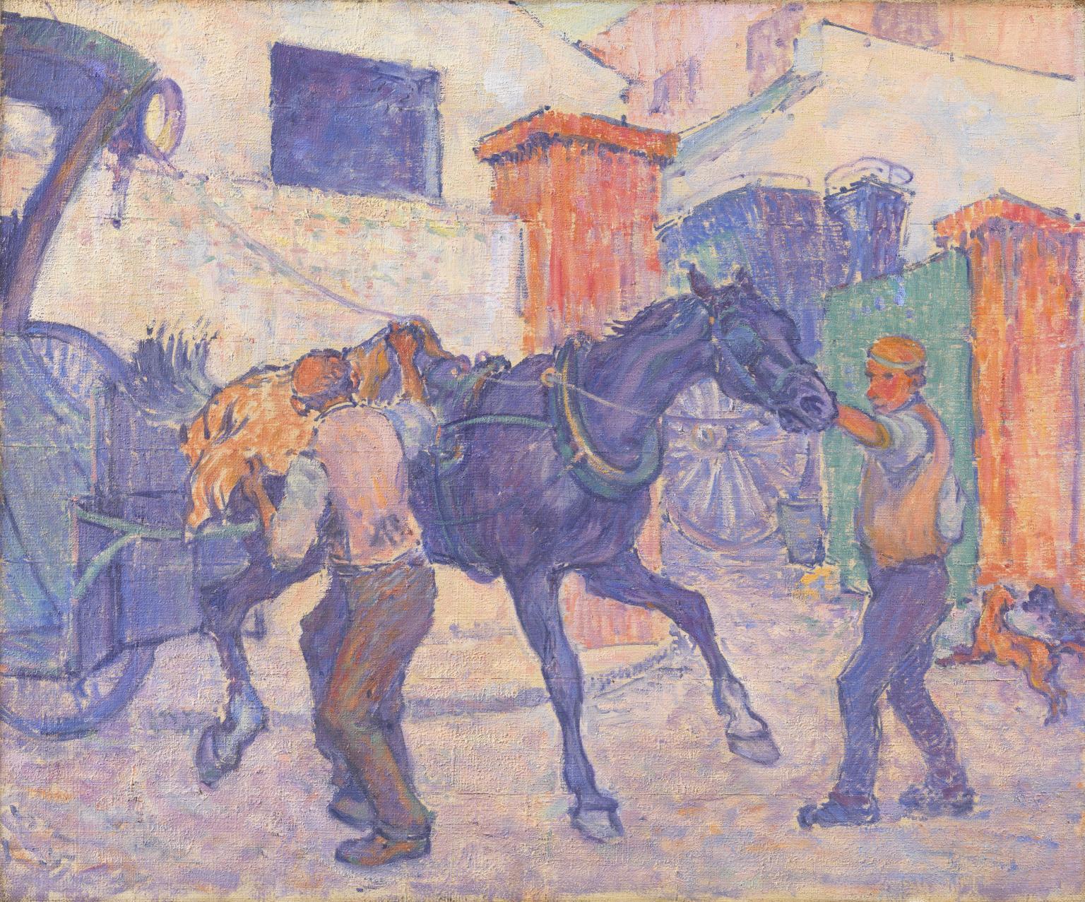 Robert Bevan The Cab Horse c. 1910 artwork