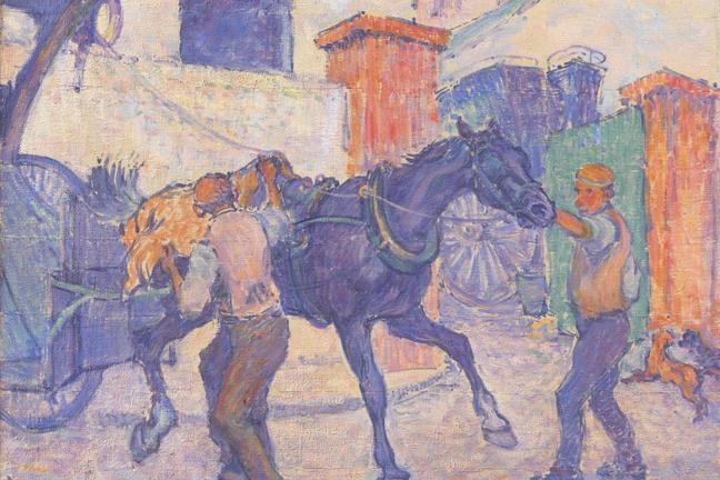 Robert Bevan The Cab Horse c. 1910 artwork