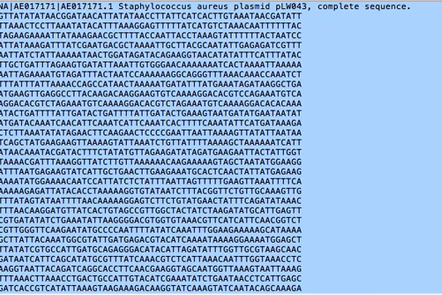 Genome sequence letters (place holder)