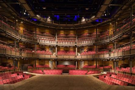 The view from the stage inside the Royal Shakespeare Theatre - the venue for the current production of Much Ado about Nothing (Love's Labour's Won)