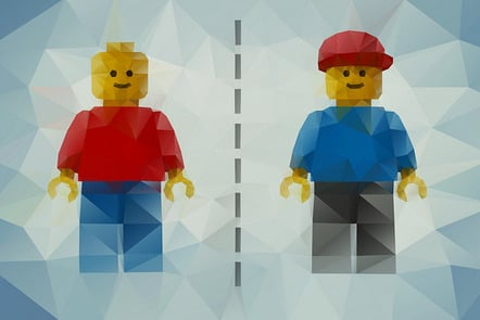 two small figures of lego representing genome comparison by yourgenome